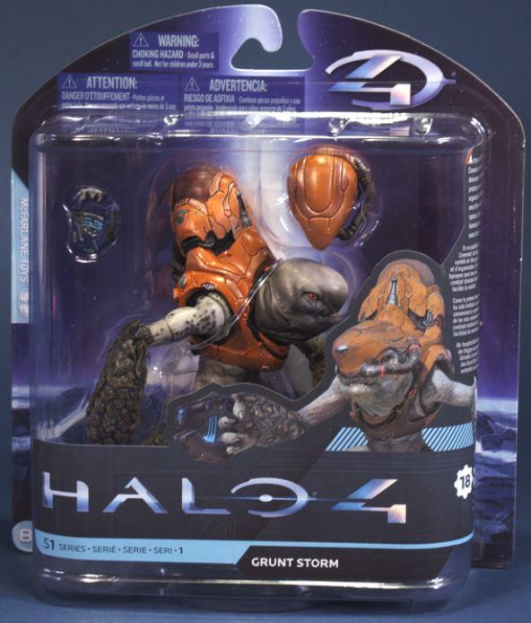 * Package damage and McFarlane HALO 4 series 1 Grunt Storm Halo 4 /  mcfarlane