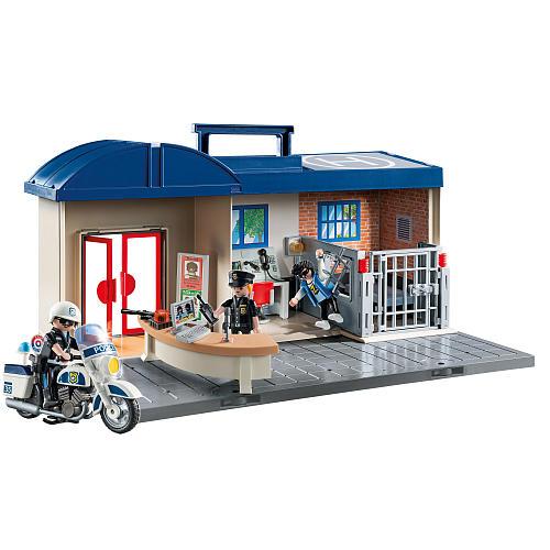 【期間限定セール】Playmobil Take Along Police Station☆プレイモービル持ち運びできる警察署【5689】