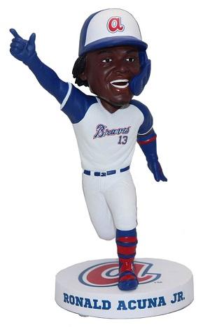 【まもなく入荷 2020】【送料無料】2020年 MLB ボブルヘッド ロナルド・アクーニャ・Jr. Throwback Jersey 750体限定品/アトランタ・ブレーブス