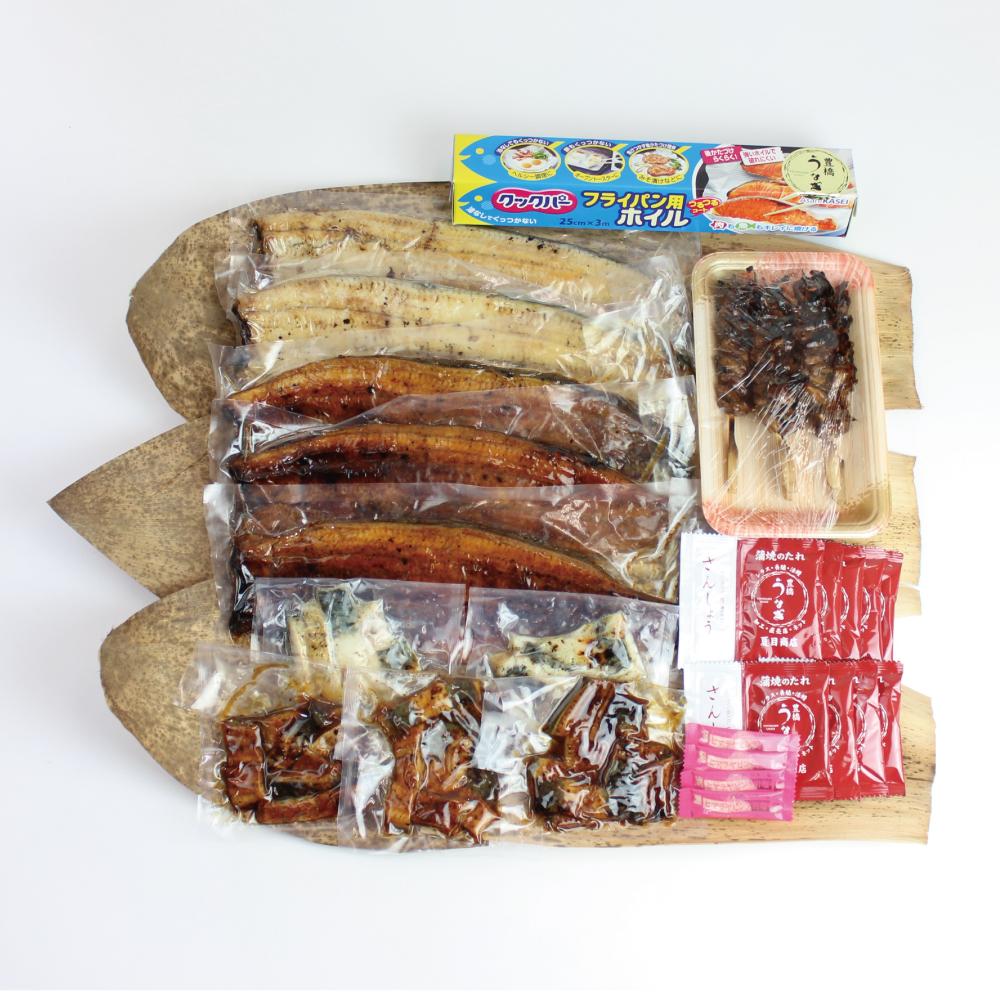 〈商標登録〉豊橋うなぎ ~夏目商店プレミアムギフト~ 蒲焼き・白焼き・肝焼き等の詰合せ   国産 国内産  誕生日 プレゼント 土用の丑の日 お中元 敬老の日 食べ物 贈り物 ギフト