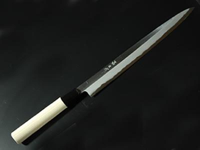 柳7寸片刃 白鋼 水牛柄 単品
