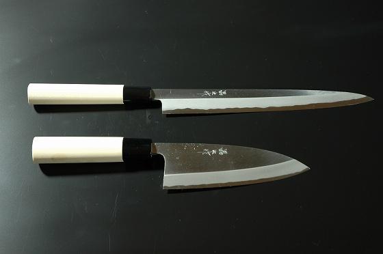 柳8寸 出刃4.5寸(片刃 白鋼 水牛柄)