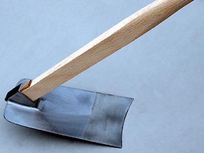 平鍬 柄付 4.5寸 柄1500mm(高知県の標準サイズです)
