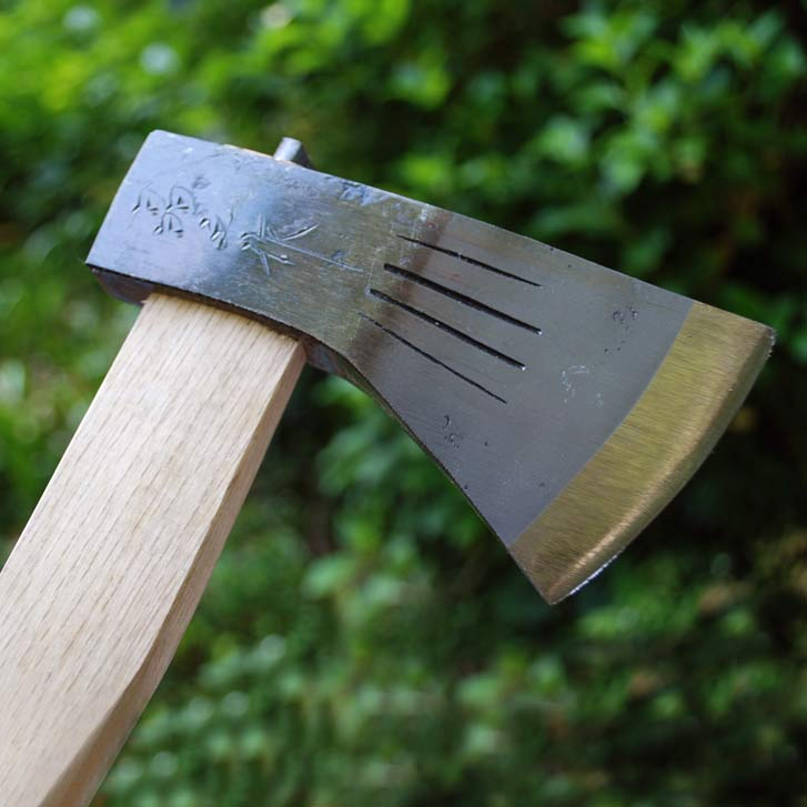 【晶之作】薪割斧チェッカー入 小斧 700g