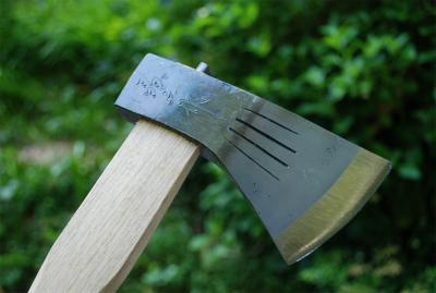 【晶之作】薪割小斧チェッカー入 380g