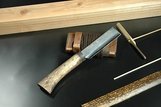 竹細工鉈 両刃 90DM青2