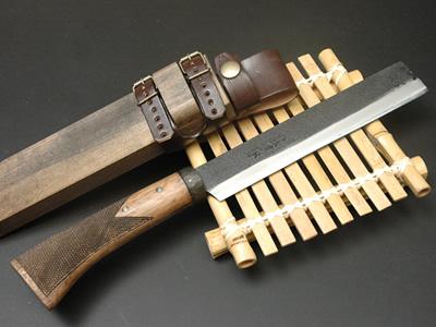 土佐の国 竹割鉈(竹取物語) 180 青