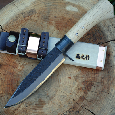 【TV放映】サバイバルアウトドア・ナイフ150 青SU 両刃