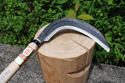 【ナギ型造林鎌】片刃左 380g 柄サック付