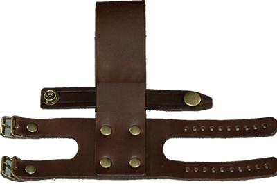 剣鉈木ケース 専用皮バンド(ベルト大)/チョコ色 【左利き用】止金部分は右使用です