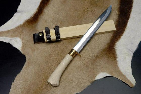 三代目豊国狩猟刀300 白