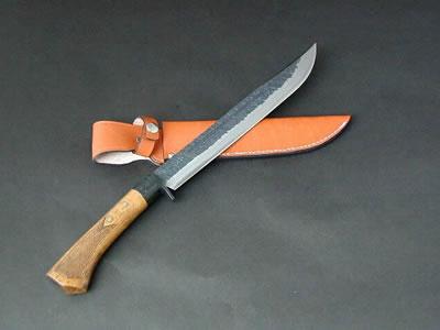土佐剣鉈チェッカー180 両刃 DM 黒槌