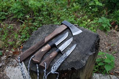 【セット商品】アウトドアナイフ シースナイフ 剣鉈 和斧 キャンプ 和式刃物