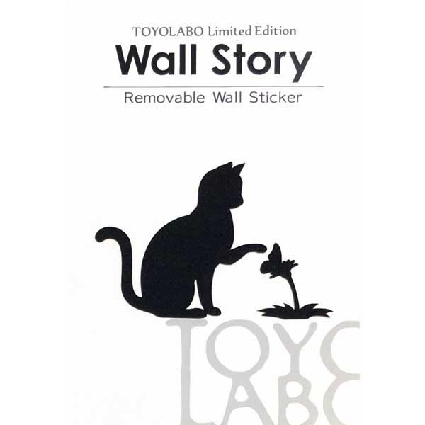 セール商品 ねこの気ままな姿が愛らしい 新作入荷!! シルエット ウォールステッカー 猫 CAT LIFE 花とねこ 雑貨 Wall story インテリア 壁 デコレーション 黒ねこ 猫ステッカー ネコ ねこ グッズ 猫雑貨 簡単 かわいい はがせる シール