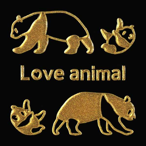 可愛らしい動物たちがワンポイントの蒔絵シールになって登場 動物 蒔絵シール Love animal パンダ 金 30mm 豊富な品 雑貨 ケータイ アイコス ワンポイント デコ かわいい iQOS スマホ ジャイアントパンダ ステッカー iPhone 新品未使用正規品