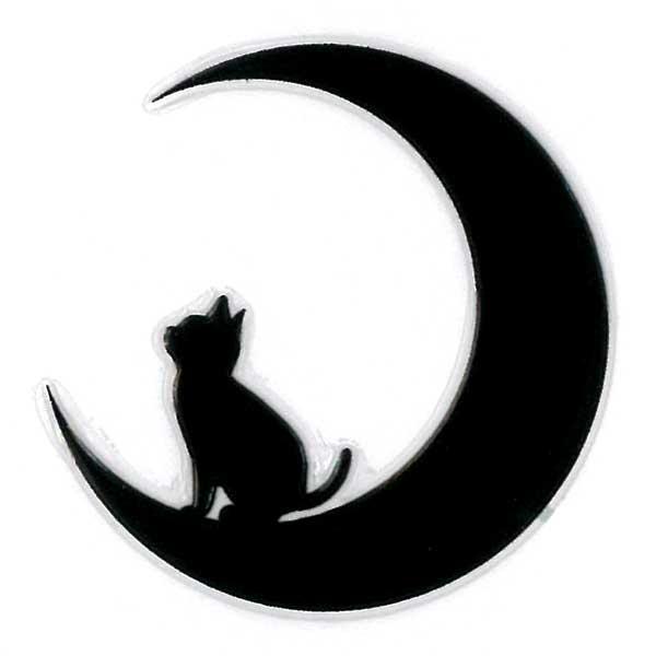 可愛らしい猫がワンポイントの蒔絵シールになって登場 スマホカバーや小物に貼れるシールです 猫 蒔絵シール Love cat キャット 開店記念セール 月と子猫 黒 30mm ねこ ネコ 黒猫 スマホ カバー ケータイ iQOS シール ステッカー かわいい 動物 アイコス ワンポイント デコ 配送員設置送料無料 シルエット iPhone