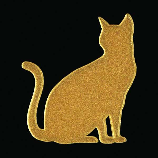 可愛らしい猫がワンポイントの蒔絵シールになって登場 定番の人気シリーズPOINT(ポイント)入荷 スマホカバーや小物に貼れるシールです 猫 蒔絵シール Love cat キャットD 金 30mm ねこ ネコ シール アイコス ケータイ 動物 ステッカー かわいい シルエット スマホ 新着セール ワンポイント iQOS デコ カバー iPhone