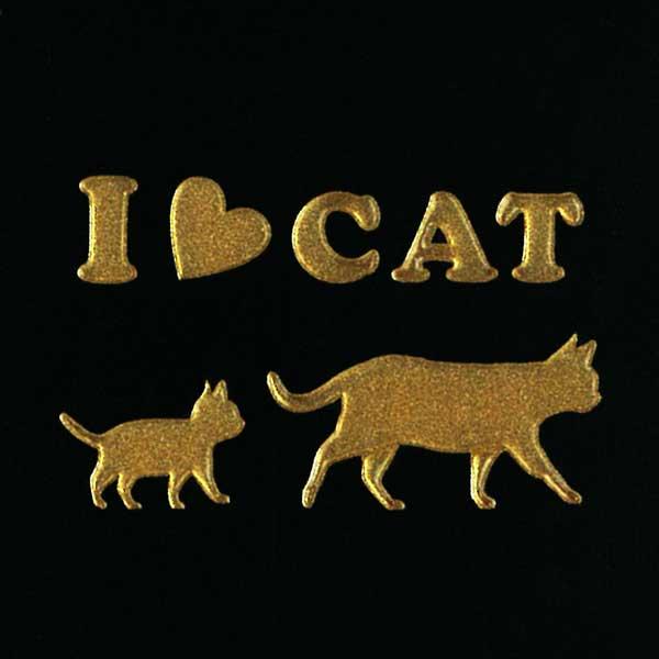 可愛らしい猫がワンポイントの蒔絵シールになって登場 通信販売 スマホカバーや小物に貼れるシールです 猫 蒔絵シール Love cat キャット てくてく 金 30mm ねこ ネコ シール アイコス かわいい iQOS カバー ワンポイント スマホ ステッカー ケータイ シルエット iPhone 動物 デコ 激安挑戦中