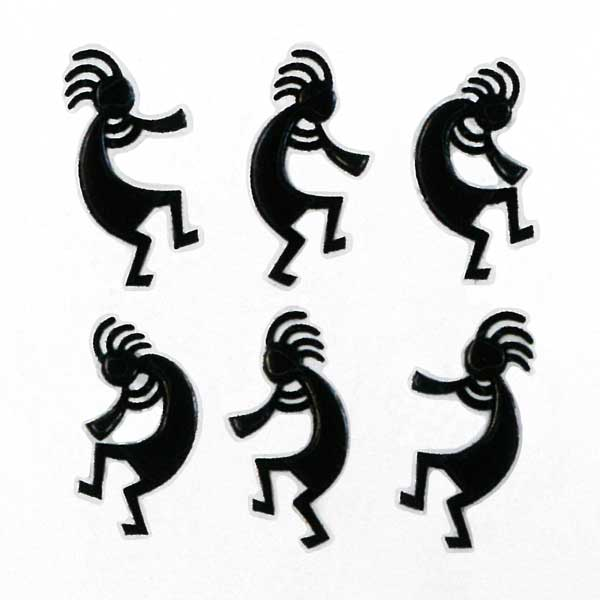 ココペリの蒔絵シール 卓出 スマートフォンカバーや携帯によく映えます 蒔絵シール ココペリ ココペリB 黒 スマホ ネイティブ アイコス ステッカー 携帯 精霊 豪華な シール アイフォン アメリカン iQOS