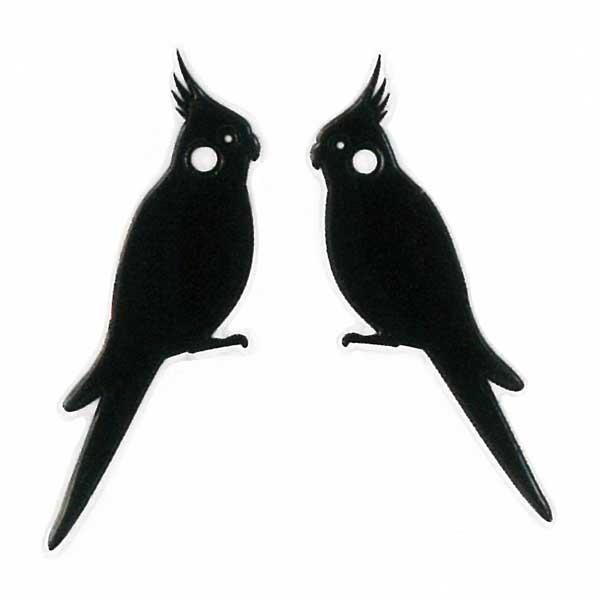 可愛らしい鳥たちがワンポイントの蒔絵シールになって登場 スマホカバーや小物に貼れるシールです 鳥 蒔絵シール Love 流行のアイテム bird オカメインコ 黒 30mm ステッカー 贈り物 カメインコ iQOS 雑貨 コンパニオンバード iPhone ケータイ アイコス スマホオ デコ