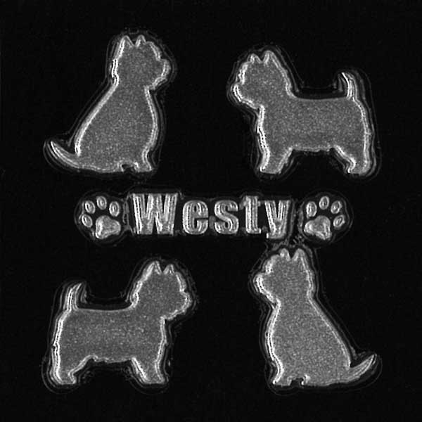 可愛らしい犬がワンポイントの蒔絵シールになって登場 スマホカバーや小物に貼れるシールです 犬 蒔絵シール Love dog ウェスティ 4匹 銀 30mm ウェスト ハイランド アイコス ドッグ iQOS iPhone ホワイト グッズケータイ 犬雑貨 スマホ 格安 価格でご提供いたします 激安特価品 テリア ステッカー デコ
