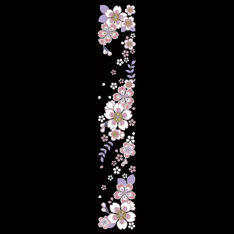 舞妓さんの華かんざしが蒔絵シールになりました 蒔絵シール 舞妓はんの華かんざし 4月 桜 モデル着用&注目アイテム 公式サイト ケータイ スマホ iPhone シール 簪 ステッカー カバー デコ サクラ さくら