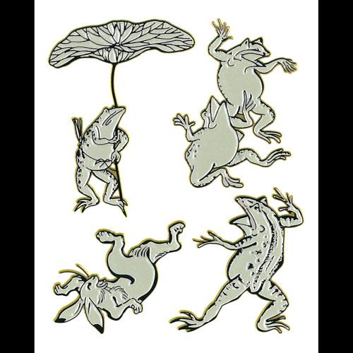 日本を代表する絵画が蒔絵シールになりました 蒔絵シール 日本の意匠 鳥獣戯画 ケータイ スマホ iPhone カバー 激安特価品 シール 絵画 浮世絵 デコ ステッカー 新色追加して再販 絵巻物 鳥獣人物戯画