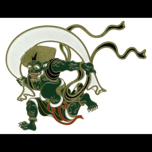日本を代表する絵画が蒔絵シールになりました 蒔絵シール 日本の意匠 風神 ケータイ スマホ ふるさと割 iPhone カバー 風神雷神図屏風 ステッカー 浮世絵 返品送料無料 シール デコ 俵屋宗達 絵画