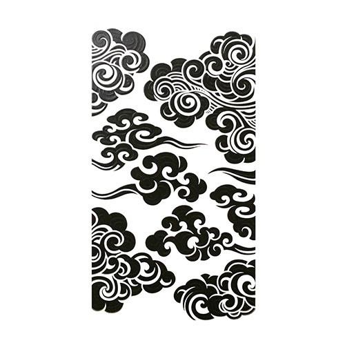 和柄トライバルステッカーの決定版 蒔絵シール SMAPHO TRIBE スマホ トライブ 雲紋 黒 ステッカー カバー iPhone ケータイ 購買 シール 大特価 デコレーション