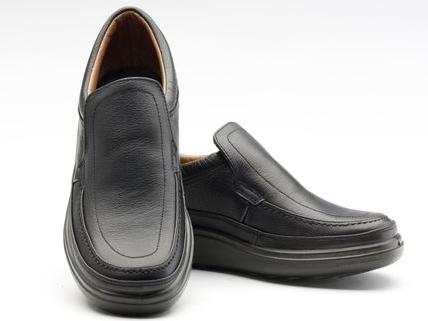 甲革は袋縫い製法、はっ水加工、抗菌防臭剤使用、ウレタン底、3E幅。 アルクラン メンズ 靴 日本製 カジュアル ワイド 本革 コンフォート ウォーキング シューズ 撥水 抗菌 防臭 3E 軽量 AR1101 ブラック