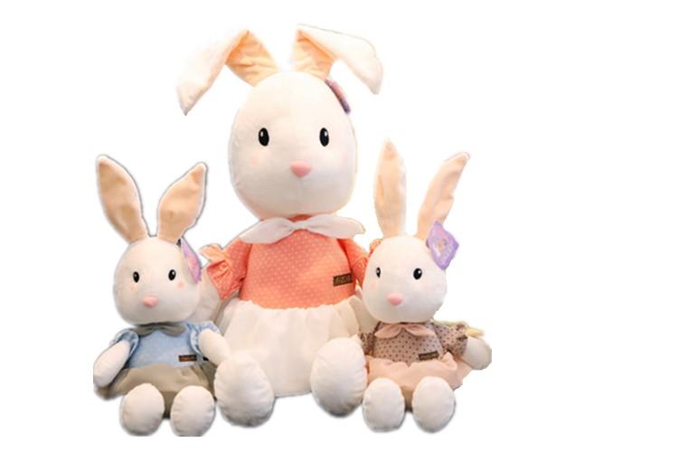【送料無料】うさぎ ぬいぐるみ 3色選択可能兔 可愛い洋服着てるうさちゃんが癒してくれる 95センチ インテリア雑貨