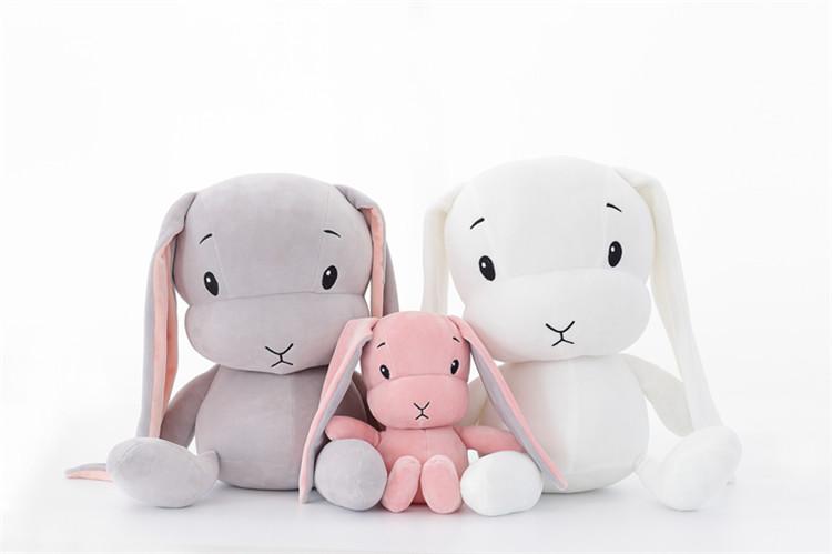 【送料無料】うさぎ ぬいぐるみ 癒してくれる 3サイズ3色選択可能 70センチ ピンク グレー 白 インテリア雑貨
