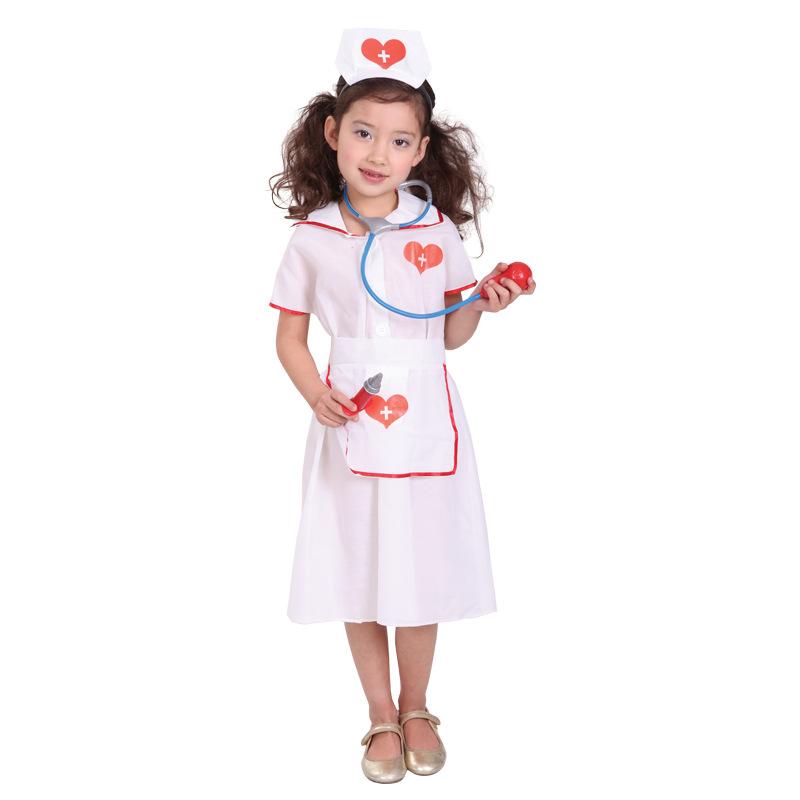 82dd763dd740d Child Pirates Halloween of the kids woman for the nurse child nurse uniform  costume play clothes ...