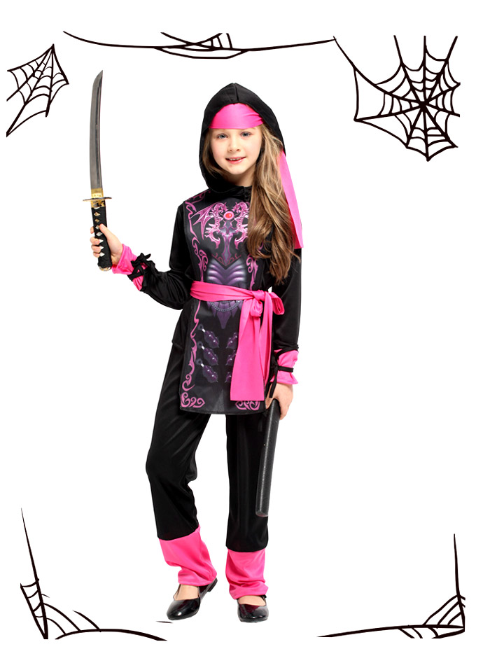 Child costume magic medium devil Halloween small witch magician Halloween  costume play of the Halloween clothes child Halloween ninja costume play