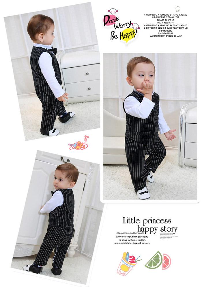 256296f79 toyslandChildren's clothes rompers boy formal suit tie baby baby ...