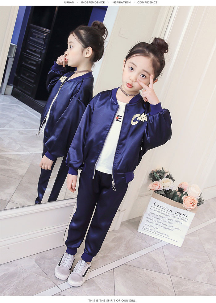 1ccbfefafcc2 ... The Korean children's clothes jersey two points top and bottom set  setup outer pants sportswear playsuit ...