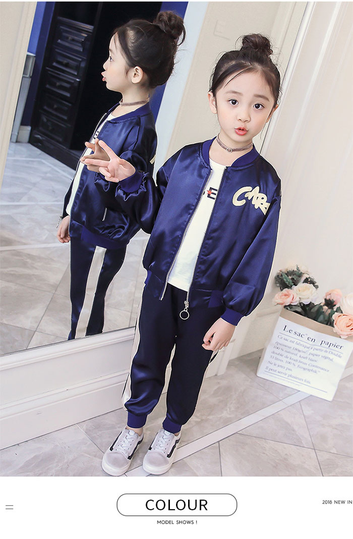 1f2392b7fb9b A product introduction: Two points of Korean children's clothes top and  bottom sets