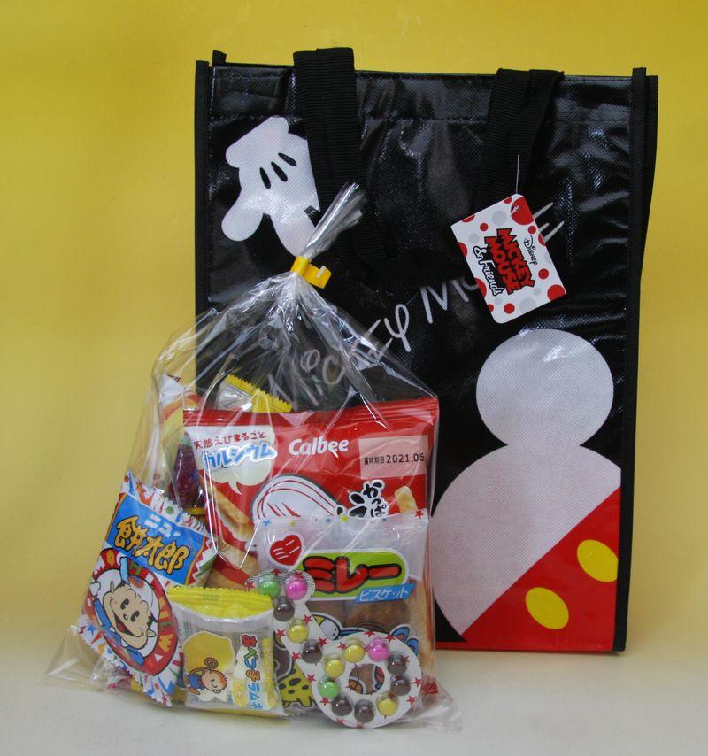 袋のキャラクター変更もできます おすすめ キャラクターいろいろ 子供会向き駄菓子詰め合わせセットキャラクター手提げ袋入り お菓子セット#398 正規店