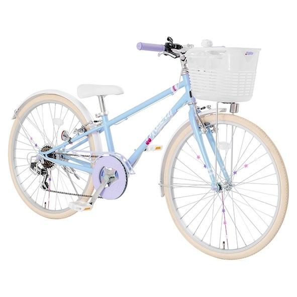 24インチ 信託 子供用自転車 チェアリー ライトブルー クリアランス 卓越