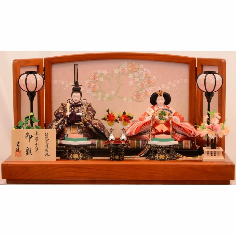 親王飾り 激安価格と即納で通信販売 花丸紋けやき塗 送料無料 ●日本正規品●