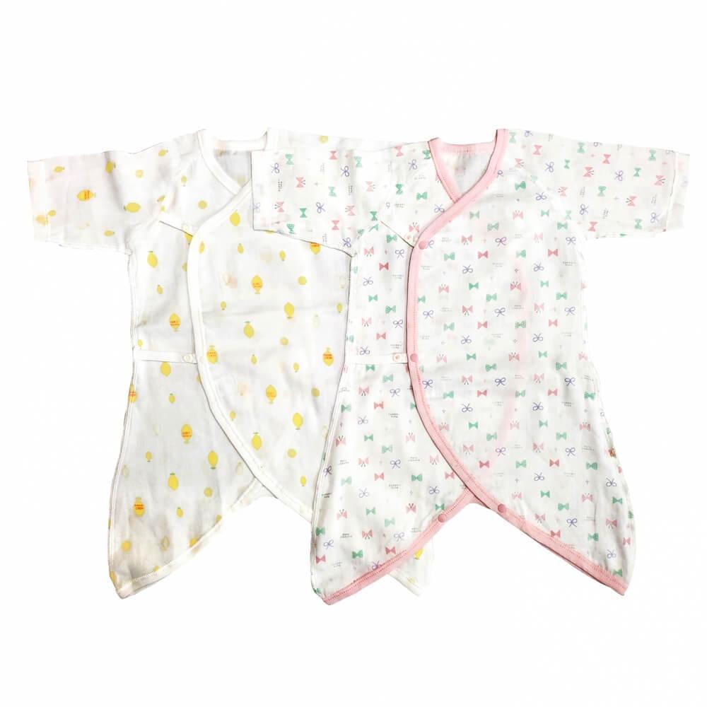 高品質 新生児コンビ肌着 2枚組 ピンク×50cm-70cm 舗 フライスワンタッチテープ