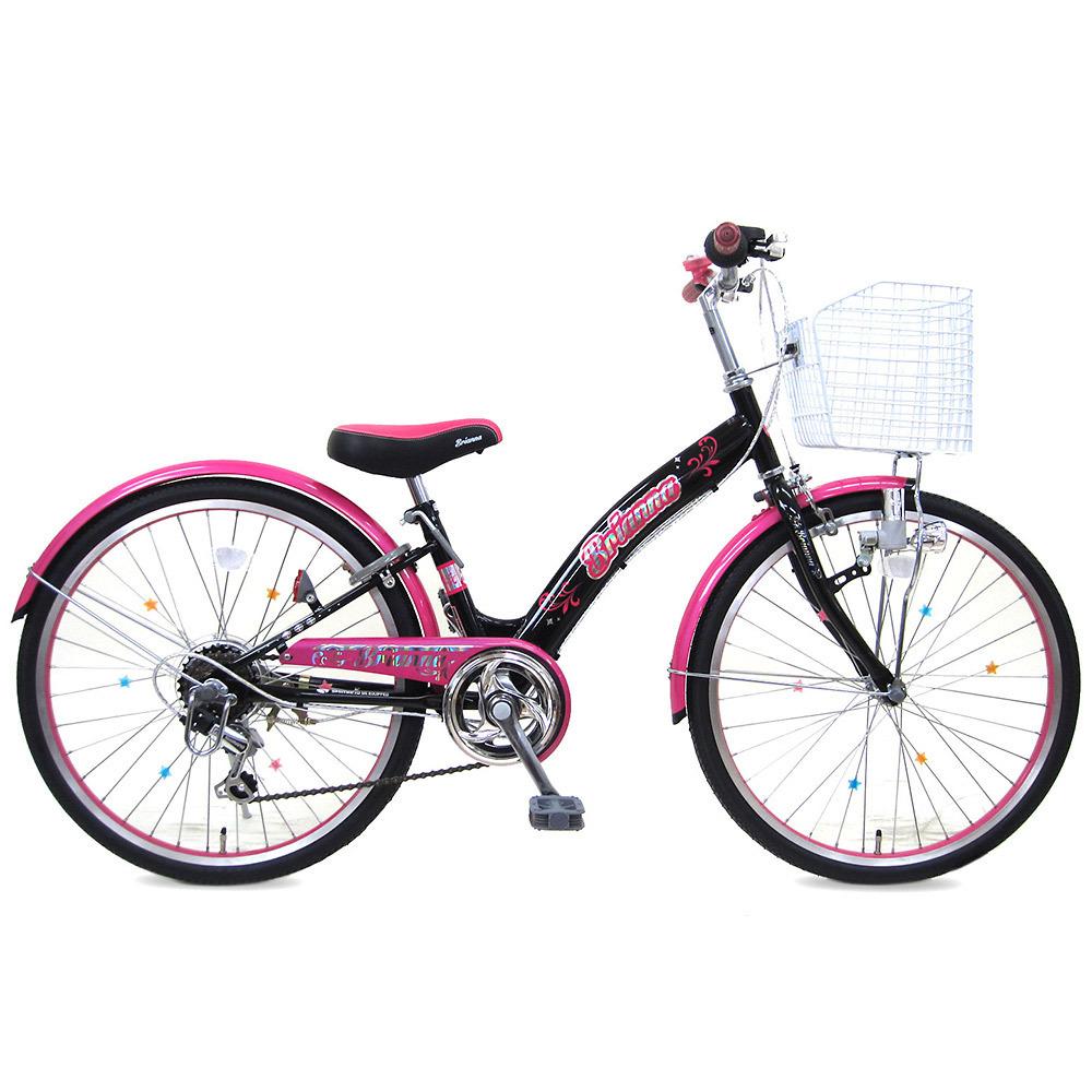 24インチ 子供用自転車 ブリアンナ(ブラック/ピンク)【女の子向け】【オンライン限定】