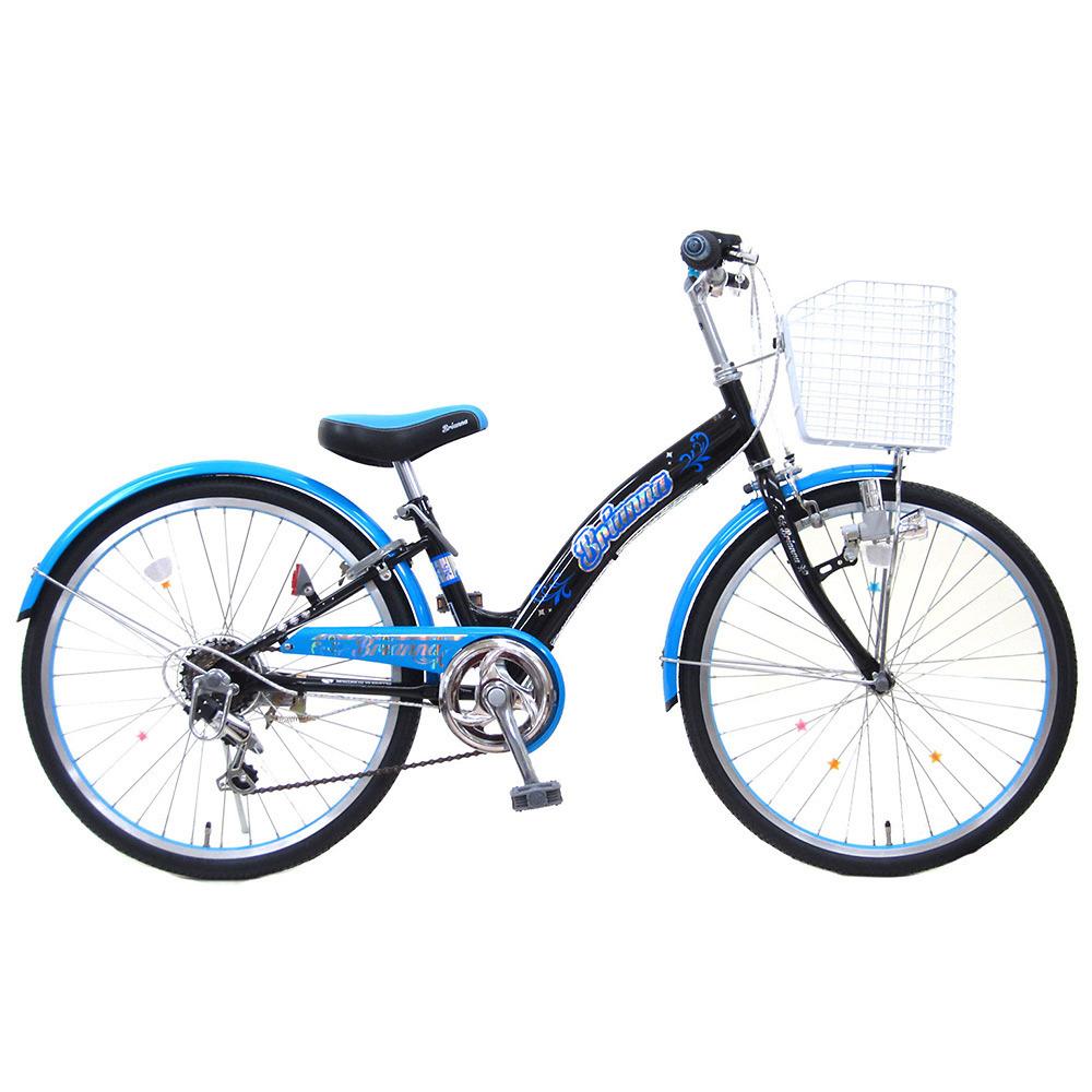 24インチ 子供用自転車 ブリアンナ(ブラック/ブルー)【オンライン限定】【クリアランス】【送料無料】