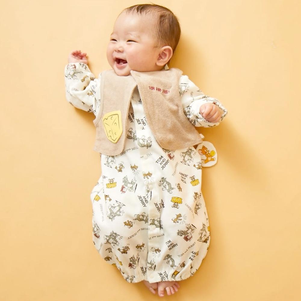 ブランド激安セール会場 ベビーザらス限定 TOM JERRY 価格 ベスト付き新生児2WAYドレス トム ジェリー