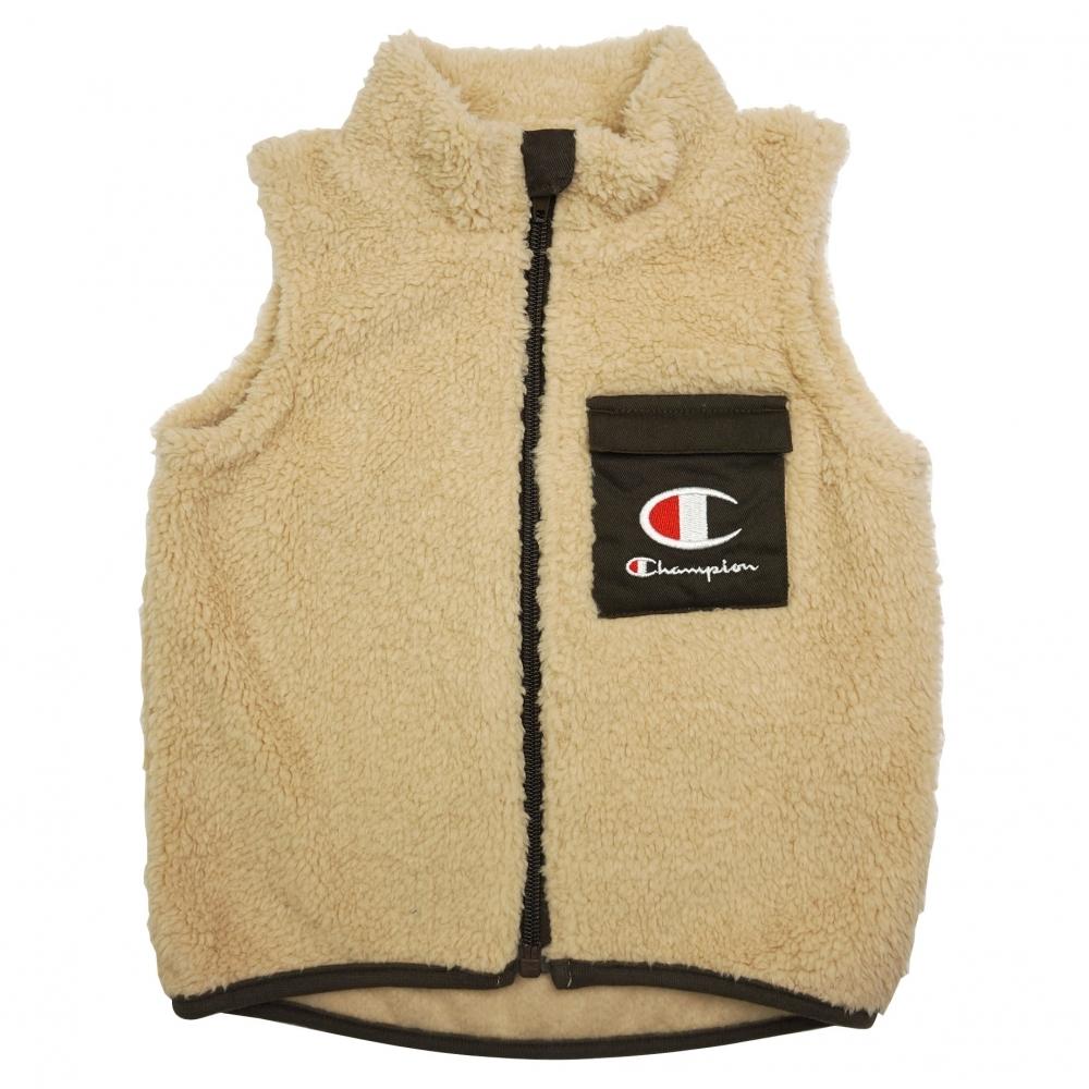 ベビーザらス限定 Champion ファッション通販 チャンピオン ボアベスト 国内送料無料 ベージュ×80-90cm