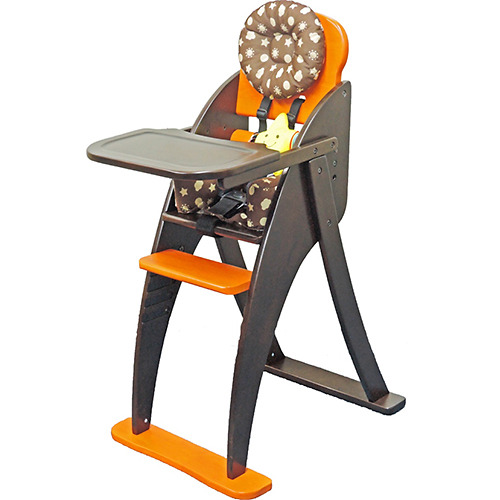きちんと座れる!ハイチェア~安心設計~ オレンジ【送料無料】