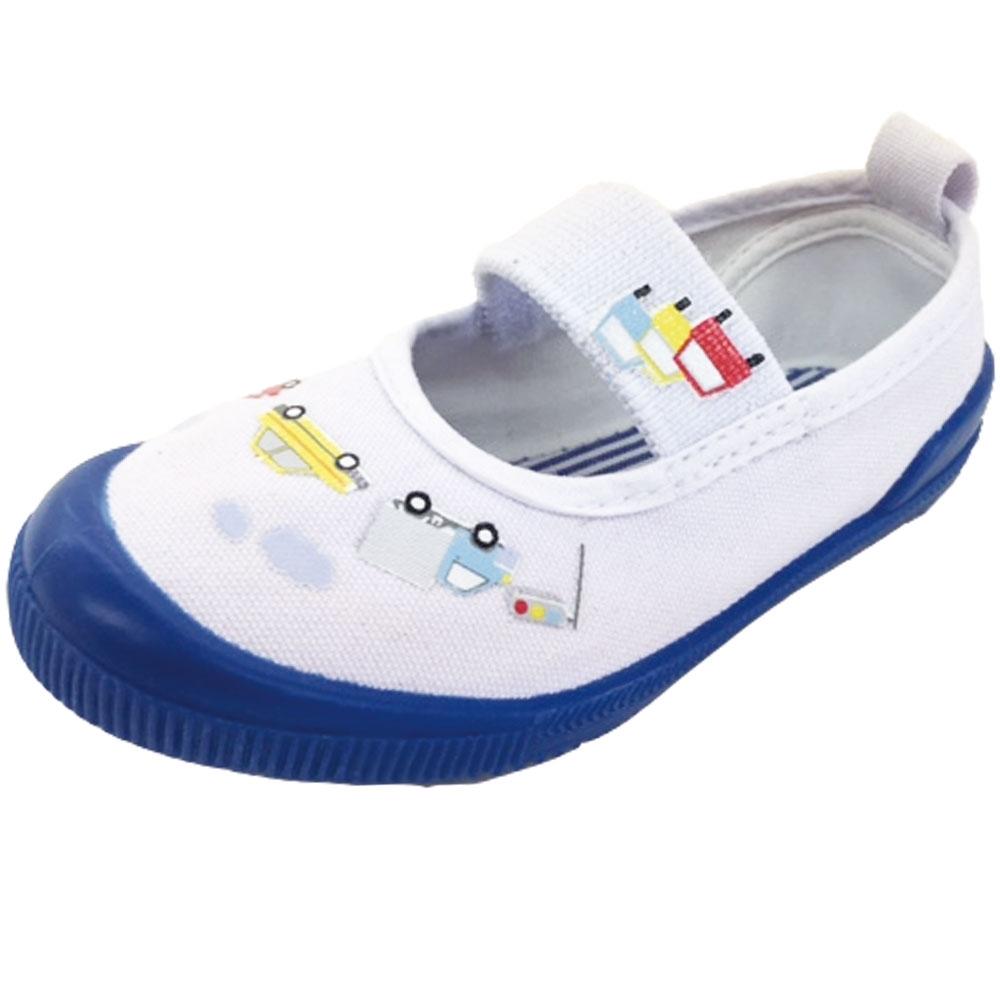 人気上昇中 ベビーザらス限定 上履き 有名な 車柄 上靴 ブルー×15cm バレーシューズ