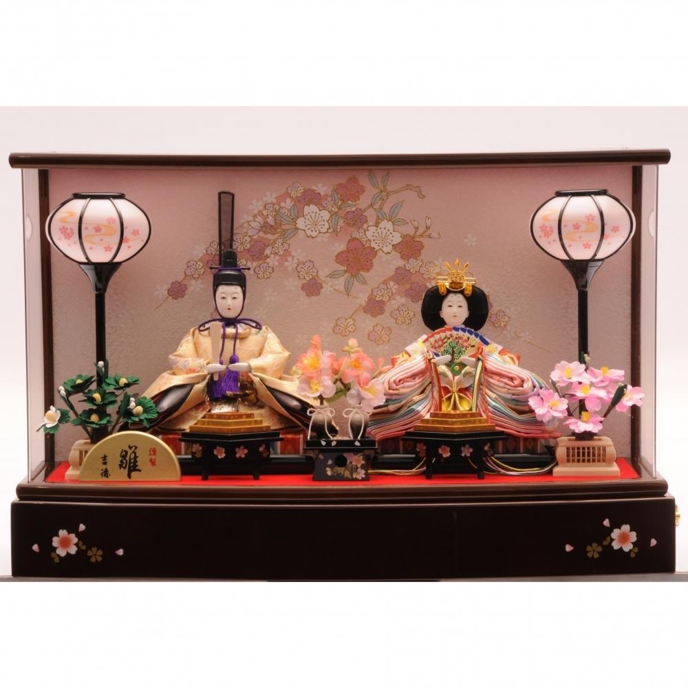 【雛人形】ベビーザらス限定 ケース親王飾り 「花見ごろ薄形アクリル」【送料無料】