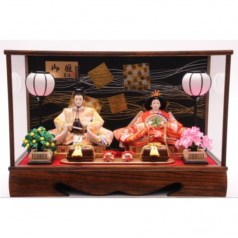 【雛人形】ベビーザらス限定 ケース親王飾り「焼桐水引金銀」【オンライン限定】【送料無料】