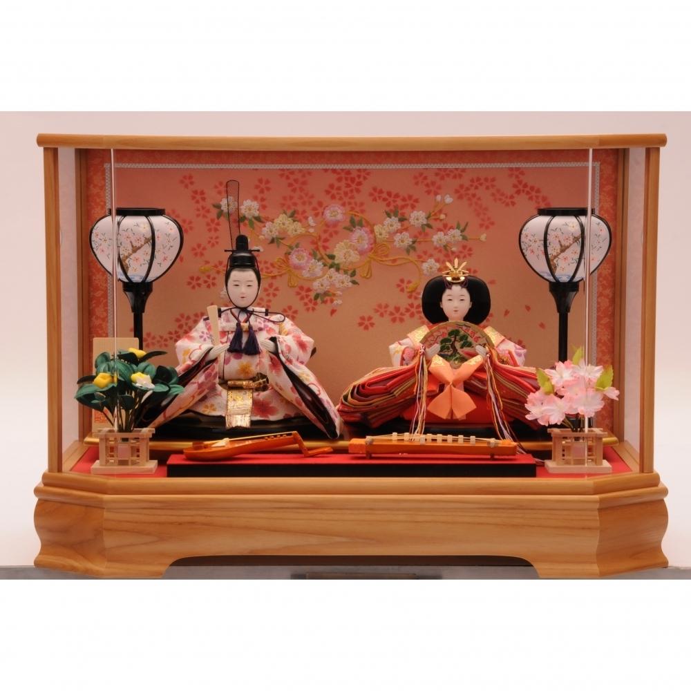 【雛人形】ベビーザらス限定 ケース親王飾り「結び白桜六角」【オンライン限定】【送料無料】
